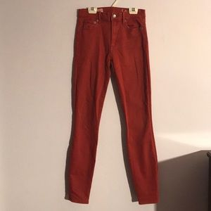 Gap Red Skinny Jeans